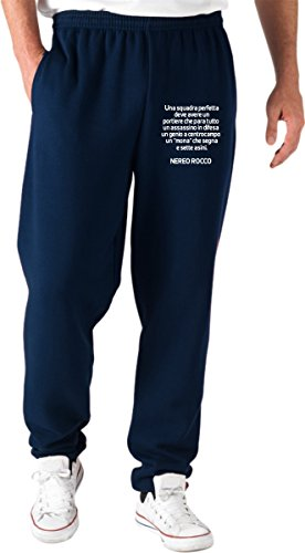 T0950 Perfetta Rocco Speed Shirt Nereo Pantaloni Navy Blu Ultras Una Tuta Calcio Squadra XFBTq