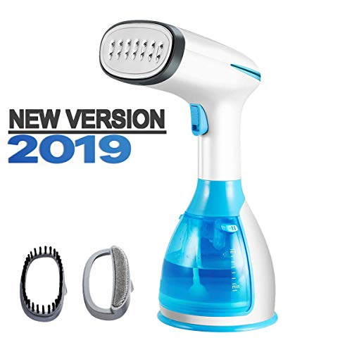 Handheld Garment Steamer, Fast Heat-up Fabric Steamer, Powerful Wrinkle Remover, Clean, Soften and Sterilize, 280ml High Capacity, Auto-Off, Portable Clothes Steamer for Home/Travel