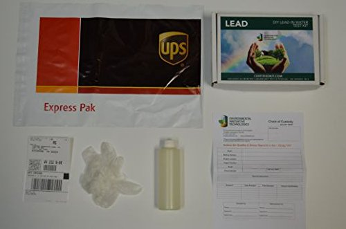 Professional Lead in Water Do It Yourself Test Kit by EIT – Prepaid Lab Testing and Shipping Perfect for your Home or Business