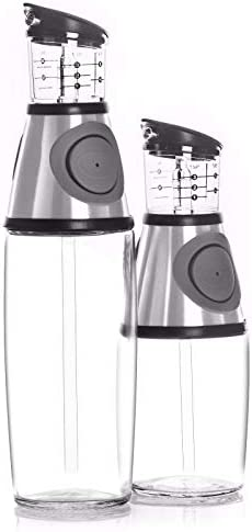 Belwares Olive Oil Dispenser Bottle Set  2 Pack Oil and Vinegar Cruet with DripFree Spouts  Includes