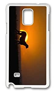 Adorable cheetah sunset Hard Case Protective Shell Cell Phone HTC One M8 - PC White