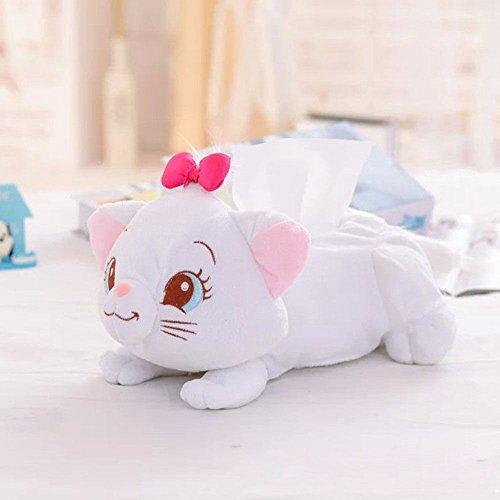 LARARHEE-New Cute Cat Plush Bedroom Room Car Tissue Box Cover Holder Storage Box #5