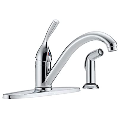 Delta 400-DST Classic Single Handle Kitchen Faucet with Spray, Chrome