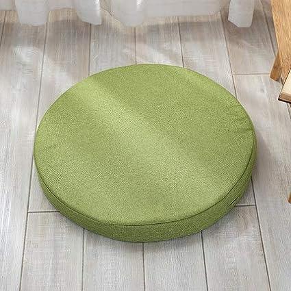 MSM Rond Hublot de Compartiment Coussin de si/ège Canap/é Tatami Chaise de rotin Coussin Tapis de Yoga /épaississement Anti-d/érapant Coussin de Chaise-E Diam/ètre 40cm