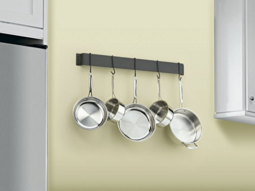 Cuisinart CRBW-33MBK Chef's Classic 33-Inch Bar-Style Wall-Mount Pot Rack, Matte Black by Cuisinart (Image #1)'