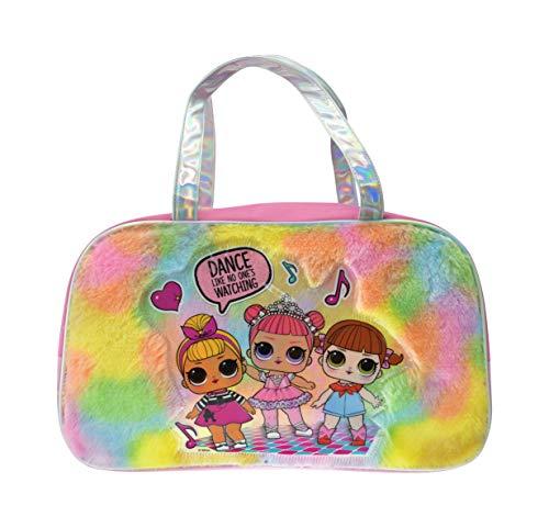 LOL Surprise Fur Rainbow Duffel Bag for Girls by FAB Starpoint