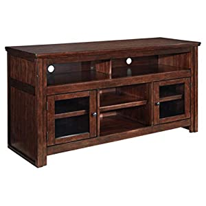 Signature Design by Ashley Harpan Large TV Stand Reddish Brown