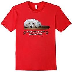Maltese Dogs Lovers T-shirt Gift Love Puppy Hug Maltese