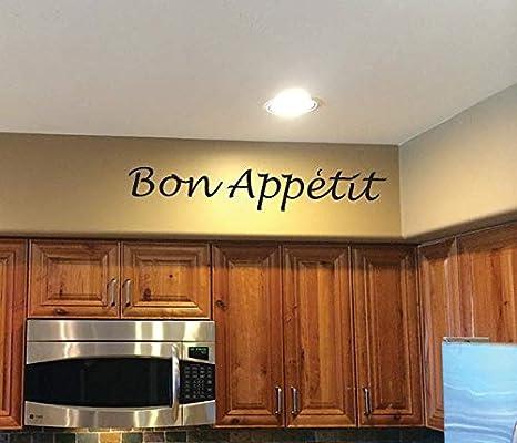 Amazon Com Kitchen Decorating Ideas Wall Decor Bon Appetit Vinyl Decal Dining