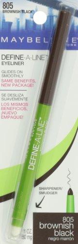 Maybelline Define-A-Line Eyeliner, Brownish Black, 0.01 fl. oz.