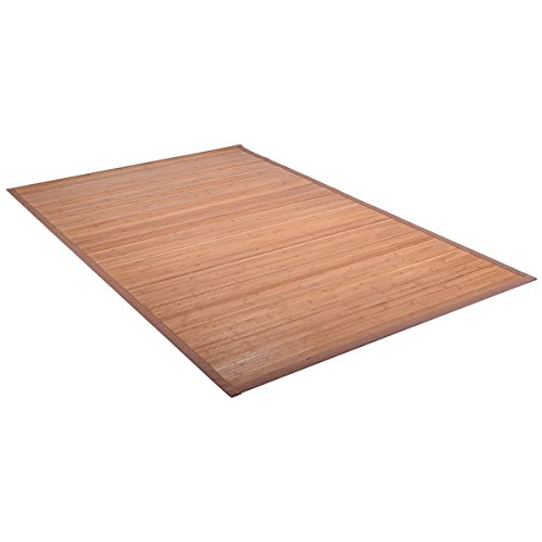 Giantex 5' X 8' Bamboo Area Rug Floor Carpet Natural Bamboo Wood Indoor Outdoor