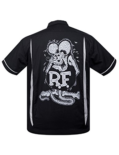 (Steady Clothing Rat Fink Kustoms Bowler Button Up Ed 'Big Daddy' Roth Rat Rod (XXL))