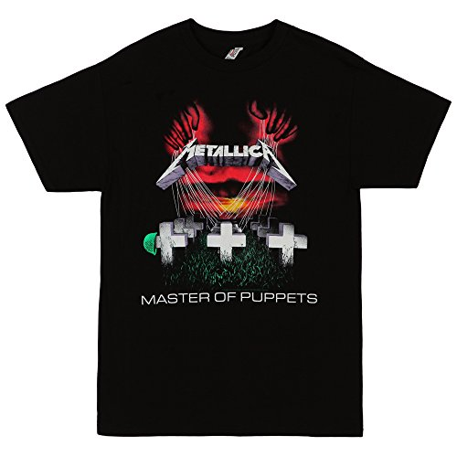 Bravado Men's Metallica-Master Of Puppets T-Shirt,Black,Large