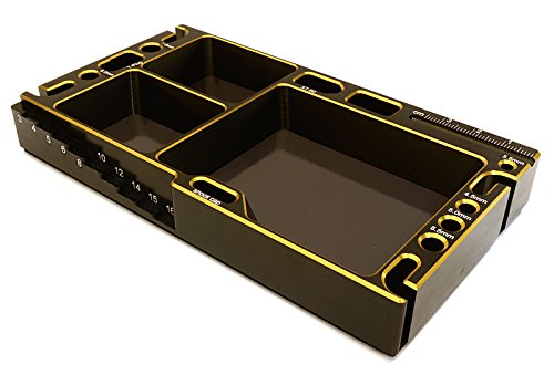 - Integy RC Model Hop-ups C27180GOLD Universal Workbench Organizer 145x80x20mm Workstation Tray
