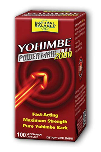 Yohimbe Power Max 2000 for Men Natural Balance 100 Caps