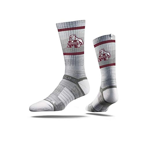 - NCAA Mississippi State Bulldogs Men's Socks, One Size, Gray