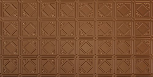 Global Specialty Products Pattern No.207 Tin Style Panel, 2 by 4-Feet, Aged Copper