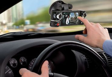 inDigi® Dual Camera Rotated Lens Car DVR w/ 2.7