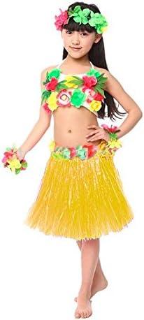 Falda Hawaiana Hula Infantil Amarilla (30 cm): Amazon.es: Juguetes ...