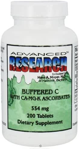Buffered C with Ca-Mg-K Ascorbates 554 Mg 200 Tabs