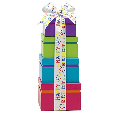 Broadway Basketeers Gift Tower, Happy Birthday Wishes by Broadway Basketeers (Image #1)