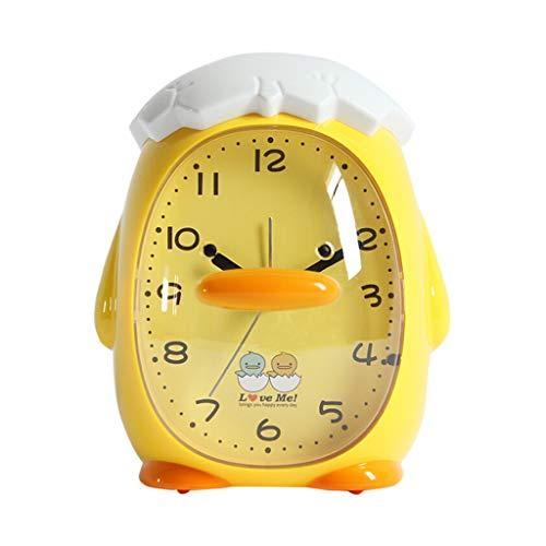 LPD Alarm Clock Silent Student Alarm Clock Cute Cartoon Children's Music  Alarm Night Light Bedroom Bedside Electronic Alarm Clock Home Clock