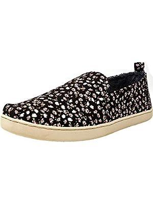 TOMS Women's Deconstructed Alpargata Canvas Black Ditzy Daisy Ankle-High Slip-On Shoes - 7.5M