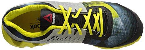 Reebok Zigtech Grandes y zapatillas de running rápido (niño pequeño / niño grande) Black/Bright Yellow