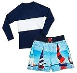 eKooBee Baby Little Boys Rash Guard Set Swimwear