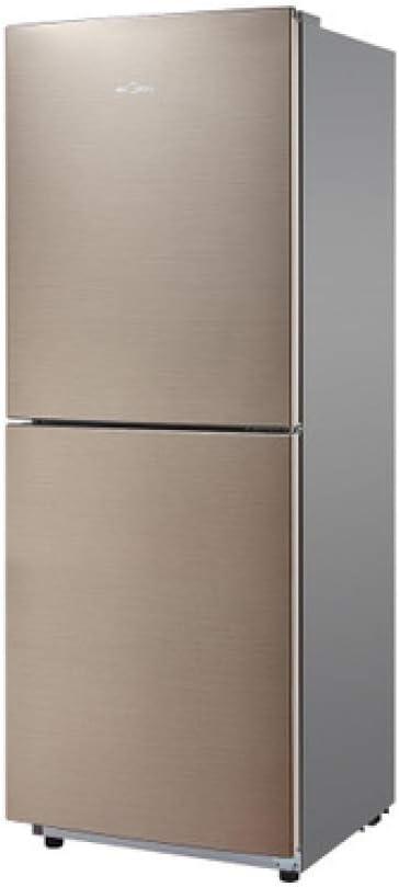 MYYQ Marrón Doble Puerta Dos refrigerador pequeño hogar ...