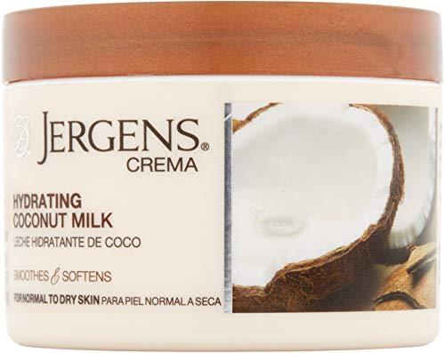 Jergens Crema Deep-Hydrating Cream, Coconut Milk, 8 Ounce
