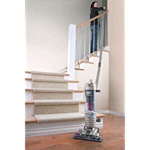 Hoover WindTunnel Air Bagless Upright Corded Lightweight Vacuum Cleaner - in use stairs