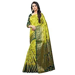 NEEAH Women's Banarasi Art Silk Saree With Unstitched Blouse Piece