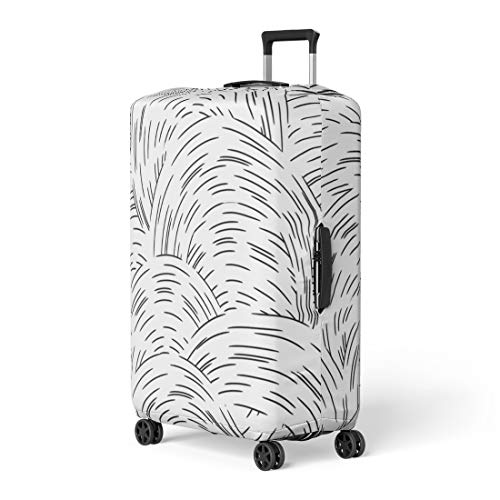 - Semtomn Luggage Cover Abstraction Abstract Ripple Line Circle Wavy Swirl Ornamental Ball Travel Suitcase Cover Protector Baggage Case Fits 26-28 Inch