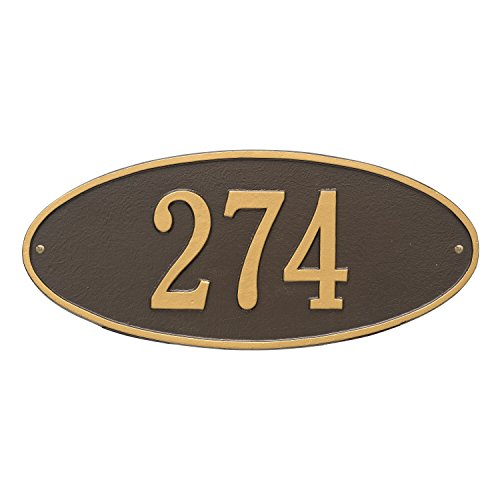 Madison Standard Wall Address Plaque Color: Bronze/Gold Letters