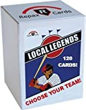 Local Legends Wax Box - 10 Packs of Vintage Baseball Cards, 12 Cards per Pack - Pick Your Favorite Team