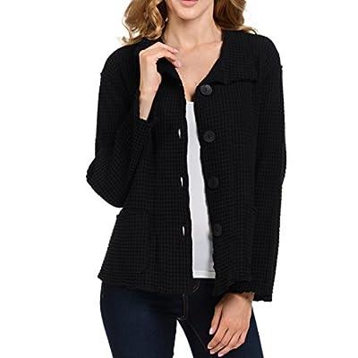Focus Fashion Women's Cotton Big Waffle All Seasons Jacket-C602: Clothing