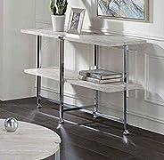 "Toponeware 30"" Tall Contemporary Style Sofa Table in White Oak &am"