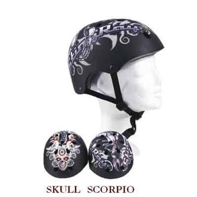 Travailleur skate Raie SKULL-Casque de vélo Taille L 58–61 cm)