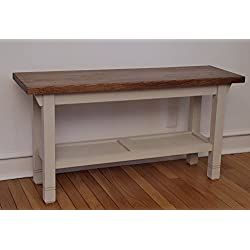 "Hallway / Mud Room / Foyer Bench In Your Choice Of Color And Size 30"" - 46"""
