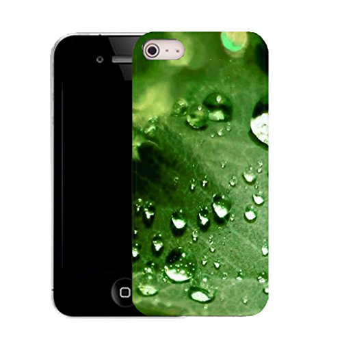Mobile Case Mate IPhone 5 clip on Silicone Coque couverture case cover Pare-chocs + STYLET - green deluge leaf pattern (SILICON)