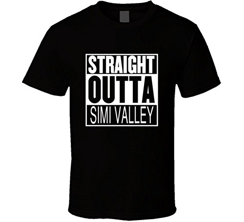 Straight Outta Simi Valley California Parody Movie T Shirt 2XL - Valley California Fashion
