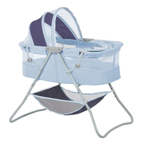Newborn Dual Canopy Traveler Portable Bassinet Navy by Nikkycozie (Image #3)