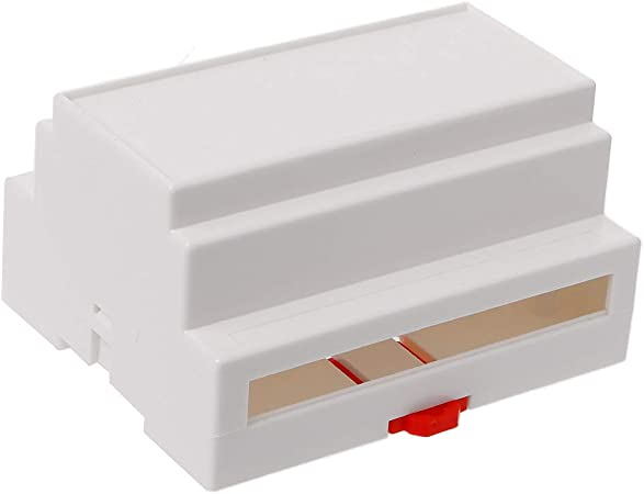 JOYKK Electrónica Caja de plástico DIN Rail Rail Caja de Conexiones Equipo electrónico - Blanco: Amazon.es: Hogar