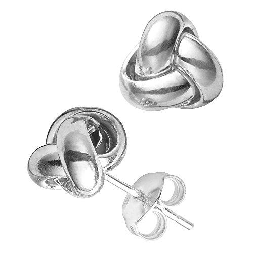 14k Gold Love Knot Stud Earrings, ()