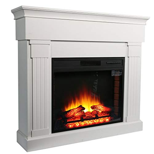 Cheap Homgrace Wood Electric Fireplace with Remote Control 1350W Black Friday & Cyber Monday 2019