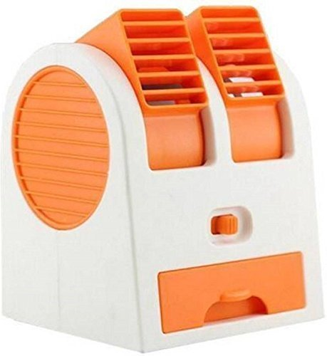 Shag Plastic Mini Dual Bladeless USB Cooler Fan Multicolour