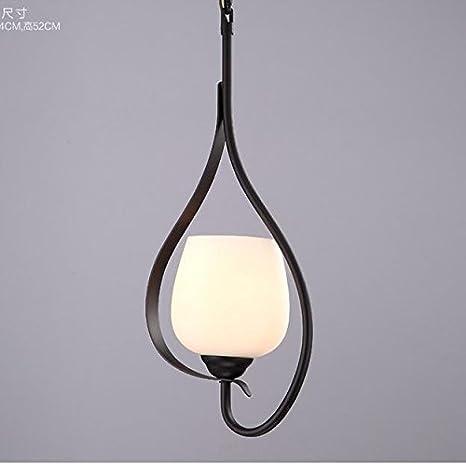 RLYYBE Lámpara de techo Rural americana moderna LED Luz de ...