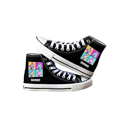 Ailient Fortnite Chaussures De Toile Pour Les Enfants Et Adolescents Unisexe En Cours D'ex