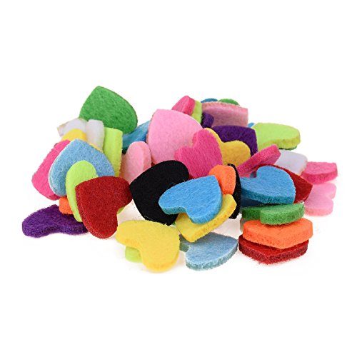 12 Colors Heart Essential Oil Diffuser Locket Necklace Refill Pads Aromatherapy Diffuser Necklace Replacement Pads 60pcs,18mmx22mm